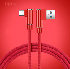 For HTC Fast Charge Type C USB-C Charger Cable Lead Strong 90 Degree Braided