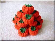 x5 autumn pumpkins party decoration Halloween Thanksgiving handmade crochet