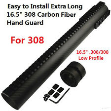 "Extra Long 16.5"" Low Profile Carbon Fiber Free Float Handguard Picatinny .308"