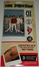 ONE DIRECTION TEMPORARY JEWELRY TATTOOS ID ZAYN NIALL LIAM LOUIS HARRY 2044 NEW