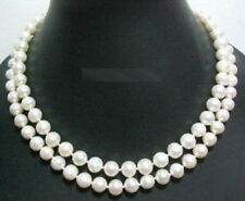Natural Genuine 7-8mm White Pearl Beads Necklace 36'' PN1489