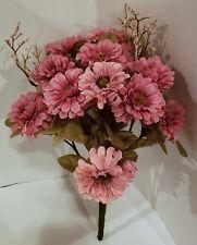 Daisy Mix Bush Mauve 15 in. Artificial Flower Bush Floral Wreaths Bouquet New