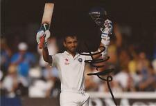 INDIA: AJINKYA RAHANE SIGNED 6x4 TEST ACTION PHOTO+COA