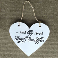 2 Side Chic Heart 'Here Comes the Bride' Vintage Wedding Sign Plaque Gift