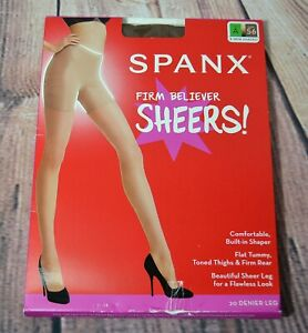 NWT SPANX FIRM BELIEVER SHEERS SHAPING TIGHTS NYLONS A, B, C, D, E