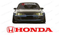 HONDA Windshield Banner Decal for Type R Civic, old civic & all Honda vehicles.