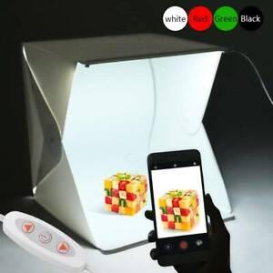 Portable Photo Studio Lighting Cube Tent Kit 40 X 40CM Light Box + 4 Backgrounds