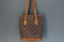 Authentic LOUIS VUITTON Bucket Monogram PM Shoulder Bag Free Ship 918f31