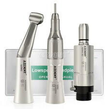 Dental Low Speed Handpiece Kit ContraAngle Straight AirMotor 4/2Hole stainless