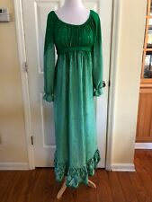 Vtg  Maxi Dress Green Size 10 Polyester Empire Waist  Leonard Sunshine