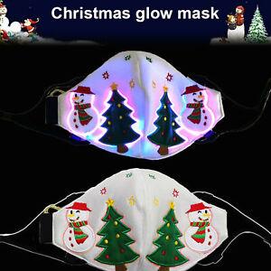 7 Colors Light Up Mask Fiber Optic Fabric Face Mask LED Glow Christmas Party