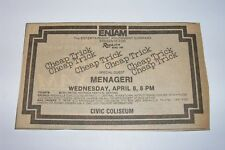 Vtg 1981 Cheap Trick Menageri Rock 104 Concert Newspaper Ad Knoxville Tennessee