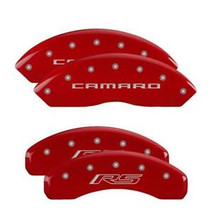 MGP 4 Caliper Covers Red Engraved Front Camaro Rear RS for 2016-2020 Chevrolet