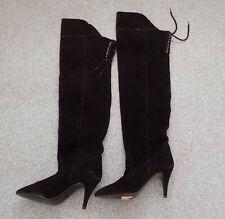 Biba ladies black suede boots size 6