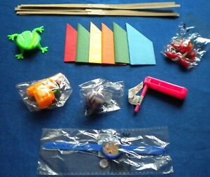 6 TOYS/GIFTS/FILLERS + HATS,SNAPS,JOKES TO MAKE XMAS CRACKERS:WATER PISTOL,WATCH