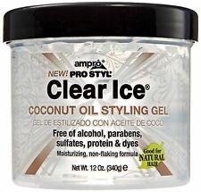Ampro Pro Styl Clear Ice Coconut Oil Styling Gel 12 oz (Pack of 2)