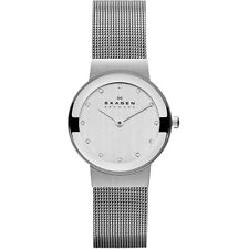 Skagen 358SSSD Women's Freja Silver Dial with Swarovski Elements Watch