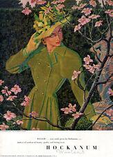 Edwin Georgi Hockanum Girl PINK BLOSSOMS Monte Sano ROBERT DUDLEY 1947 Print Ad