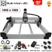1*1.5m WorkBee CNC Router Machine Full Kit Mach3 2.2KW CNC Milling Engraver