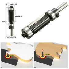 """1""""H X 1/4'' Shank Top & Bottom Flush Trim Router Bit Bearing Milling Cutter Tool"""