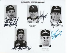 NASCAR Operation Desert Support Autographed photo