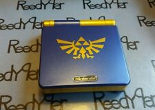 Blue & Gold Zelda GameBoy Advance SP *MINT* AGS-101 Brighter Nintendo System
