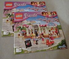 Lego FRIENDS Manual Only NEW (from set) #41119 Heartlake Cupcake Cafe Bks. 1-2
