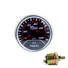 "2"" 52mm Car Oil Press Pressure Gauge Pointer Display Car Smoke Len LED PSI Meter"
