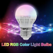 Bid 3W E27 RGB LED Light Bulb 16Colors Changing Magic Lamp+24key Remote Control