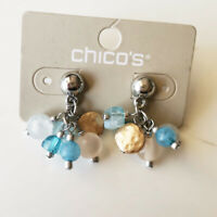 New Chicos Beads Cluster Drop Earrings Gift Fashion Women Holiday Party Jewelry