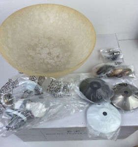 Universal Ceiling Fan Light Kit With Replacement Dome Shade Champagne
