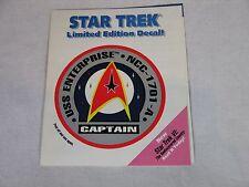 Star Trek Limited Edition Promo Decal
