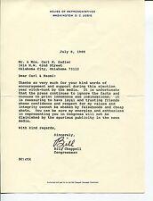 William V. Chappell Jr. Florida US Representative Congress Signed Autograph TSL