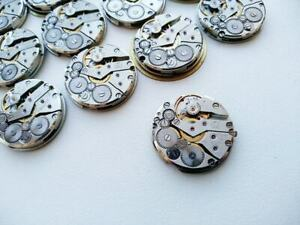 Watch Parts Movements 24mm Slava 10 pc. Vintage Mens Mechanisms Steampunk Round