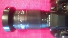 Nikon F3HP 35mm SLR camera with lens, bag, neck strap