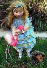 """*NEW* CLOTH ART DOLL (PAPER) PATTERN """"ALICE PLAYING CROQUET"""" BY SUZETTE RUGOLO"""