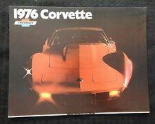 """1976 CHEVROLET CORVETTE"" SALES BROCHURE VERY GOOD SHAPE"