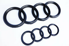 Audi Rings Matte Black Grill + Trunk A3 S3 A4 S4 RS4 A5 S5 A6 S6 TT Badge Emblem