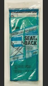 Vtg Gold Medal Director Chair Replacement Seat /Back Turquoise Heavy Duty Canvas