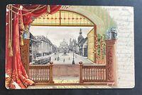 AK Litho EISLEBEN Markt Reliefkarte gestempelt Eisleben 1902