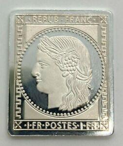 1 Franc Frankreich 1849 Briefmarke 999er Silber