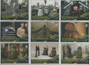 """Dr. Who Timeless Set of 10 Trading Cards """"DALEKS Across Time"""""""