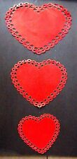 VINTAGE HANGING RED VALENTINE'S DAY HEARTS CARDBOARD BULLETIN BOARD WALL MOBILE!