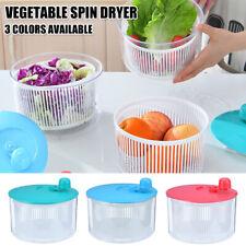 5L Large Salad Spinner Leaf Dryer Vegs Herb Washing Clean Drainer Basket G7N6