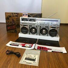 😍SHARP GF-777 Z boombox EXCELLENT condition SEE VIDEO DEMONSTRATION +85 photo😍