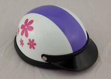 Helmet Hat Cap Pink Flowers Dog Cat Costume Accessory Pet Supplies Safety Pretty