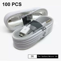 100X5ft Wholesale Lot Micro USB Fast Charging Cable Charger Cord For Android