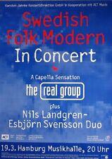 SWEDISH FOLK MODERN - Konzertplakat - Real Group - Nils Landgren - Esbjörn - HH