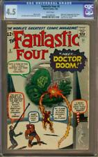 Fantastic Four #5 CGC 4.5 White Pages 1st Appearance of Doctor Doom!!!!
