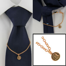 """Ky & Co Initial A Rose Gold Tone Tie Chain Button Hole Attachment 7.5"""" USA Made"""